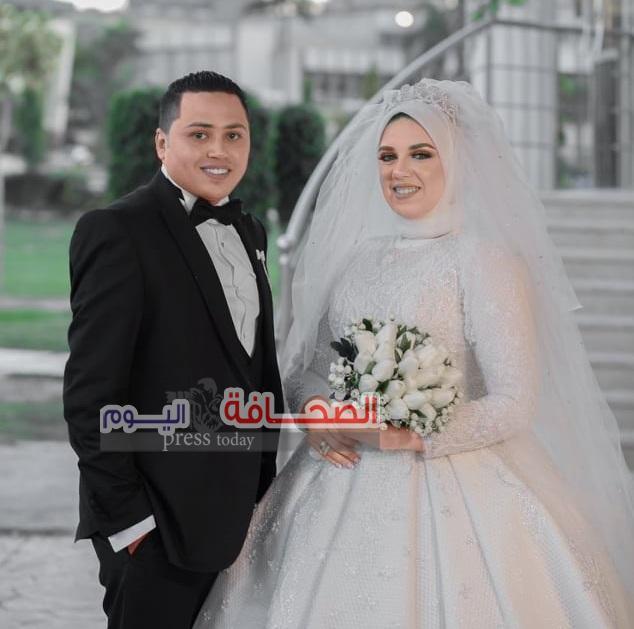 بالصور:حفل زفاف أمينه ومحمود حمدى بدار القوات الجويه