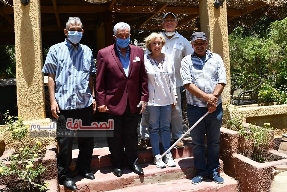 """بالصور .. د. حواس يلتقى"""" مارك لينر """"الخبير فى الاثار المصرية"""