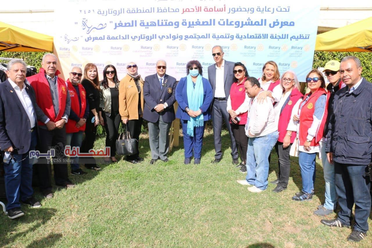 """بالصور.. وزيرة الثقافةتفتتح معرض """"مصرية """"للمنتجات اليدوية"""