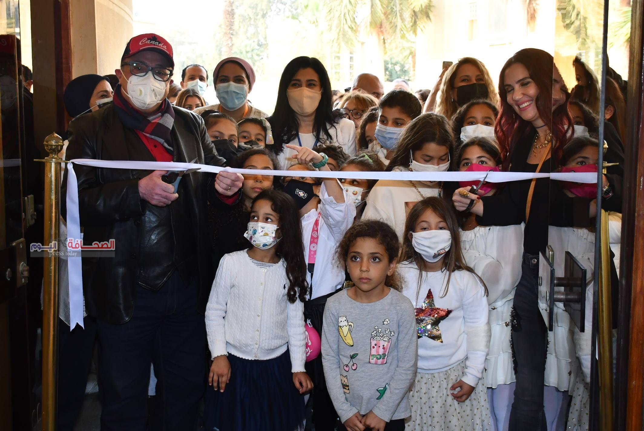 بالصور: إفتتاح معرض إبداع بلا حدود لرسوم الاطفال بدار الاوبرا المصرية