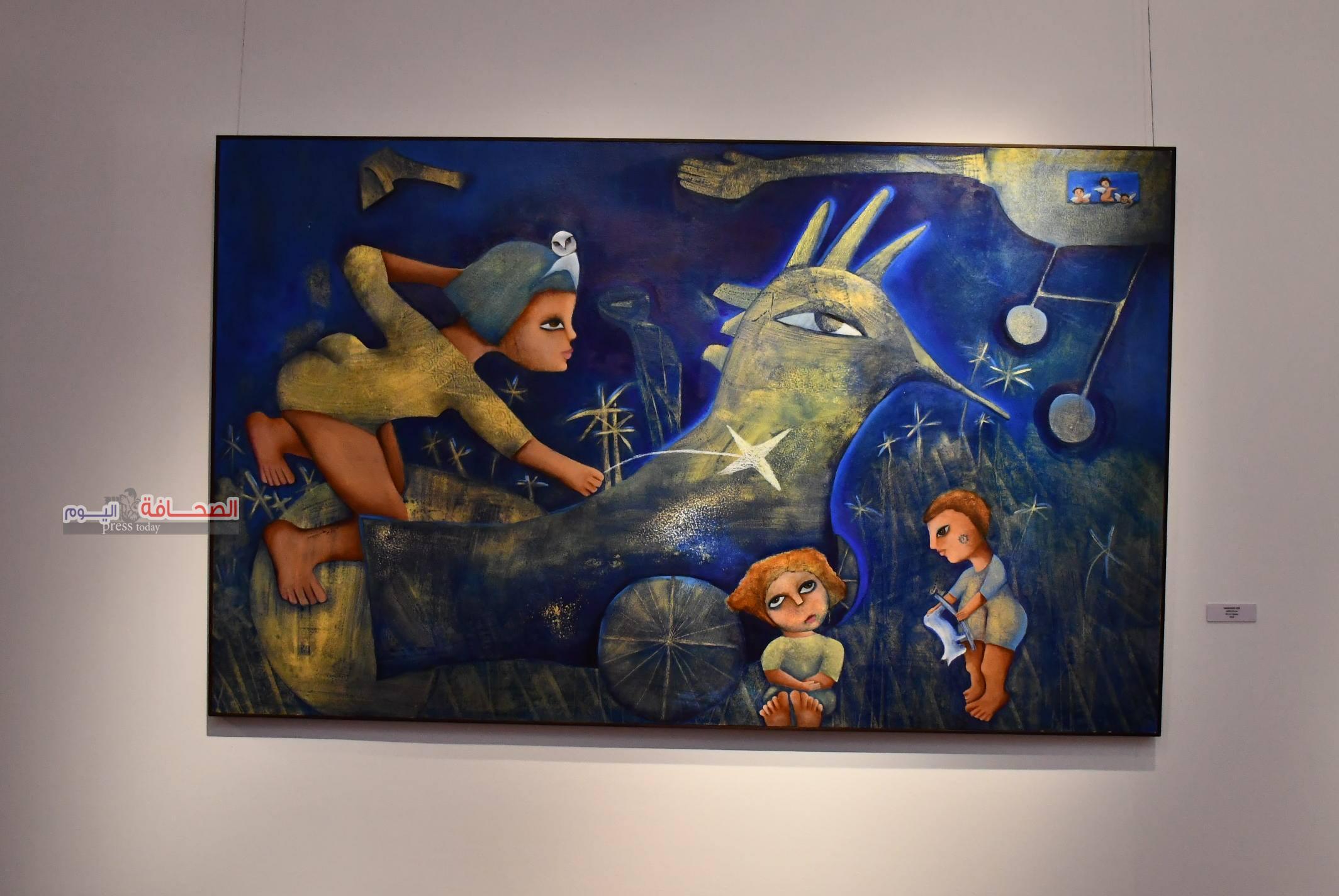 بالصور .. إفتتاح معرض الفنانة التشكيلية نعمت الديوانى