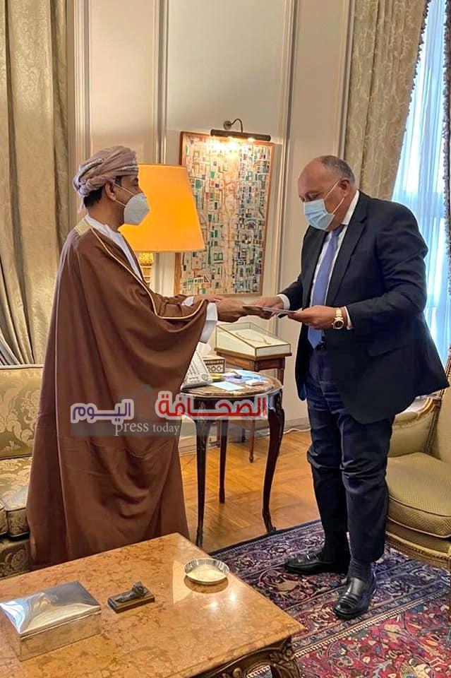 سفير سلطنة عمان بمصر يقدم نسخة من أوراق إعتماده إلى سامح شكرى وزير الخارجية