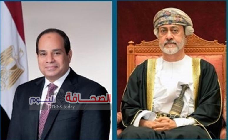 برقية تعزية ومواساة من سلطان عُمان للرئيس السيسي في ضحايا حادث تصادم القطارين