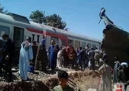 وزارة الصحة :91 مصاب و32 وفاة فى حادث تصادم قطارين بمركز طهطا بمحافظة سوهاج